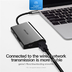 USB-хаб Vention Aluminum 8 in 1 USB 3.1 Type-C - HDMI/USB3.0х3/RJ45/TF/SD/PD (CMBHA)
